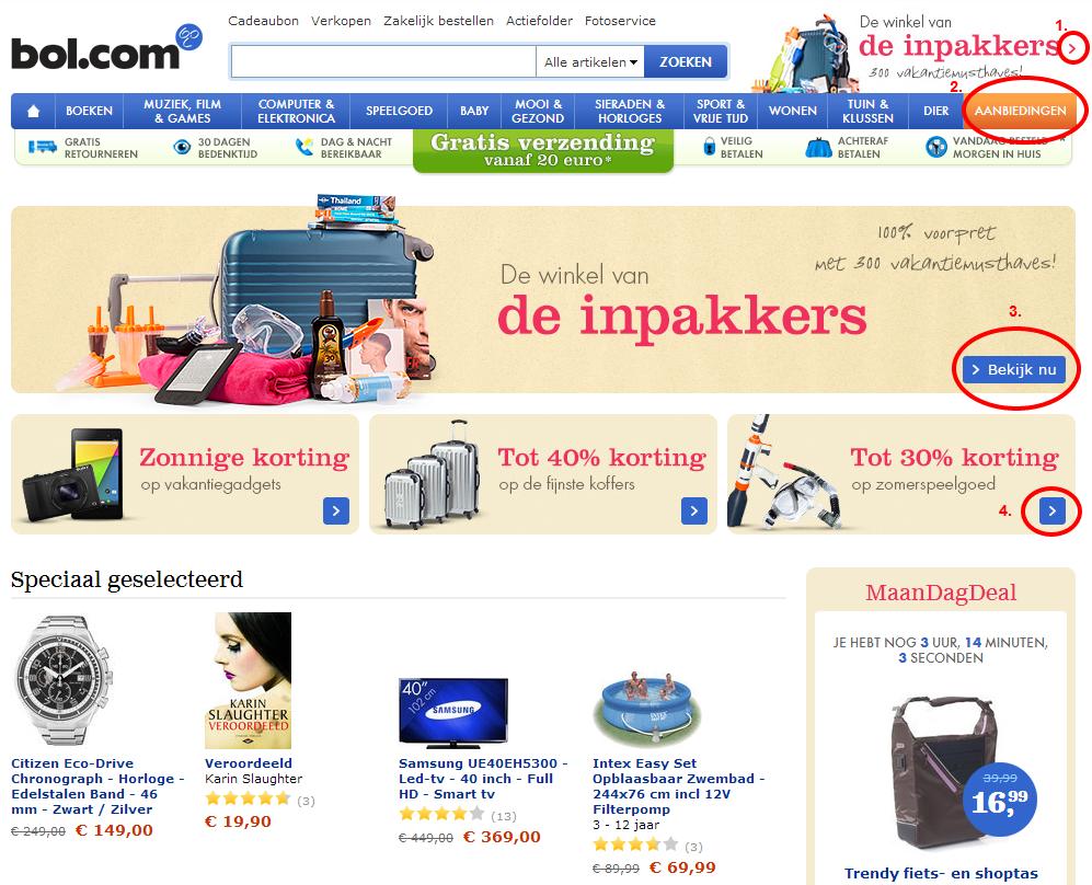 kleurgebruik website bol.com