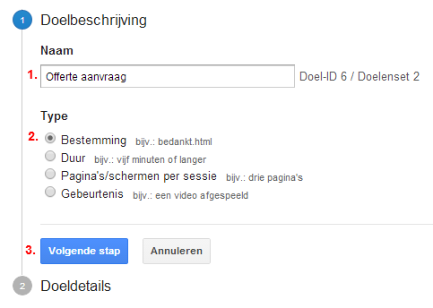 doel-aanmaken-google-analytics