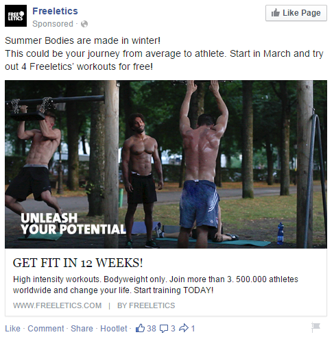 freeletics UTM url