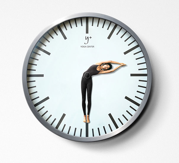 yoga-fitness-ads-clock